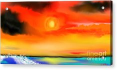 Acrylic Print featuring the painting My Soul by Lori  Lovetere