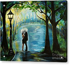 Acrylic Print featuring the painting My Soulmate by Leslie Allen