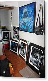 My Studio 2 Acrylic Print by Angel Ortiz