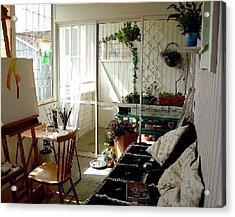 My Summer Studio Acrylic Print by Carola Ann-Margret Forsberg