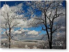 My Sunday Happy Holidays Card Acrylic Print by Lois Bryan