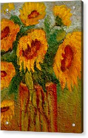 Acrylic Print featuring the painting My Sunshine by Marie Hamby
