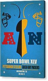 My Super Bowl Steelers Packers Acrylic Print by Joe Hamilton
