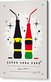 My Super Soda Pops No-01 Acrylic Print by Chungkong Art