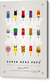 My Superhero Ice Pop - Univers Acrylic Print