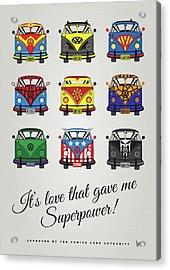 My Superhero-vw-t1-supermanmy Superhero-vw-t1-universe Acrylic Print
