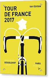 My Tour De France Minimal Poster 2017 Acrylic Print by Chungkong Art