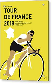My Tour De France Minimal Poster 2018 Acrylic Print