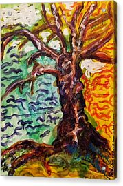 Acrylic Print featuring the mixed media My Treefriend by Mimulux patricia no No