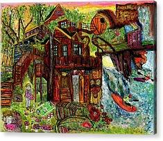 My Treehouse Paradise  Acrylic Print by Lindsay Strubbe
