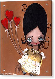 My Valentine Acrylic Print by  Abril Andrade Griffith
