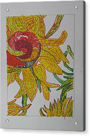 My Version Of A Van Gogh Sunflower Acrylic Print