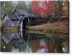 My Version Of Mabry Mills Virginia  Acrylic Print
