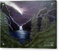 My Vision Of Haley's Comet Acrylic Print