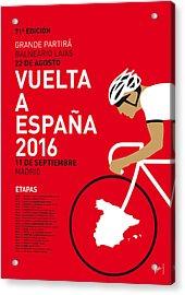 My Vuelta A Espana Minimal Poster 2016 Acrylic Print