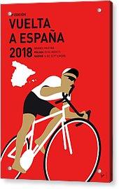 My Vuelta A Espana Minimal Poster 2018 Acrylic Print