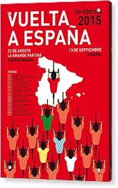 My Vuelta A Espana Minimal Poster Etapas 2015 Acrylic Print by Chungkong Art