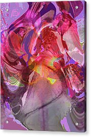 My Wild Iris Glows - Floral Abstract - Photography Acrylic Print