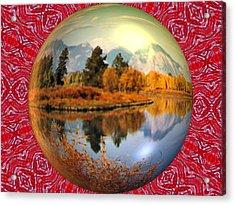 My World Acrylic Print by Guillermo Mason