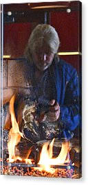 My World On Fire Acrylic Print by James Granberry