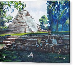 Myan Temple Acrylic Print by Howard Stroman