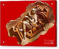 Acrylic Print featuring the digital art Myan Wall Art D by Francesca Mackenney