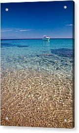 Mykonos Beach Acrylic Print by Neil Buchan-Grant