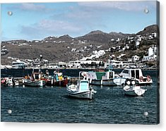 Acrylic Print featuring the photograph Mykonos Greece II by Tom Prendergast