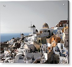 Mykonos Greece Acrylic Print by Jim Kuhlmann