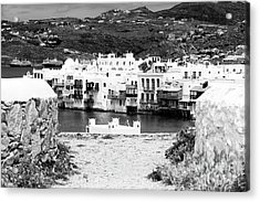 Mykonos Little Venice Framing View Acrylic Print