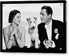 Myrna Loy Asta William Powell Publicity Photo The Thin Man 1936 Acrylic Print