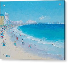 Myrtle Beach And Springmaid Pier Acrylic Print by Jan Matson