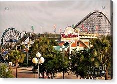 Myrtle Beach Pavillion Amusement Park Acrylic Print