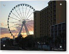 Myrtle Beach Sunset 2 Acrylic Print by Gordon Mooneyhan