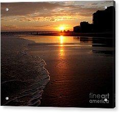 Myrtle Beach Sunset Acrylic Print by Patricia L Davidson