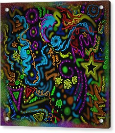 Mysteries Of The Night Acrylic Print by Kevin Caudill