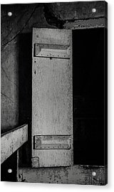 Mysterious Attic Door  Acrylic Print by Off The Beaten Path Photography - Andrew Alexander