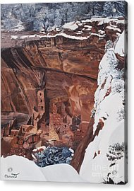 Mysterious City Of The Anasazi - Mesa Verde Acrylic Print by Barbara Barber