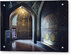 Mysterious Corridor In Persian Mosque Acrylic Print