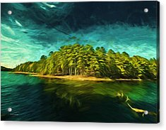Mysterious Isle Acrylic Print by Dennis Baswell