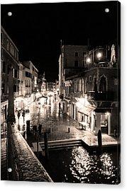 Mysterious Venice Monochrom Acrylic Print