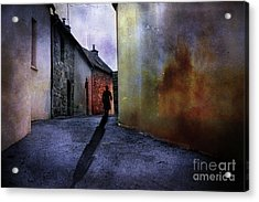 Acrylic Print featuring the mixed media Mystery Corner by Jim  Hatch