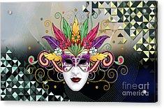 Mystery Mask Acrylic Print by Bedros Awak