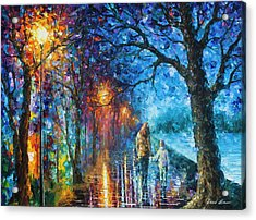 Mystery Of The Night Acrylic Print by Leonid Afremov