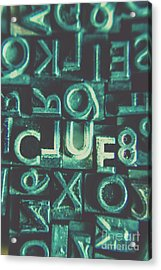Mystery Writer Clue Acrylic Print by Jorgo Photography - Wall Art Gallery
