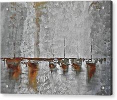 Mystic Bay Grayish Acrylic Print