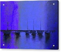 Mystic Bay Purple And Blue Acrylic Print