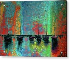 Mystic Bay Rainbow Acrylic Print