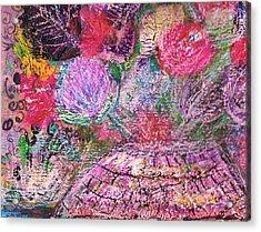 Mystic Bouquet  Acrylic Print by Anne-Elizabeth Whiteway