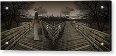 Mystic Bridge In A Dream World Acrylic Print